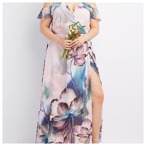 3f489141366 Charlotte Russe Surplice Cold Shoulder Dress